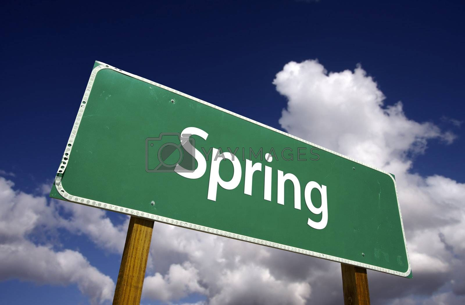 Spring Road Sign by Feverpitched