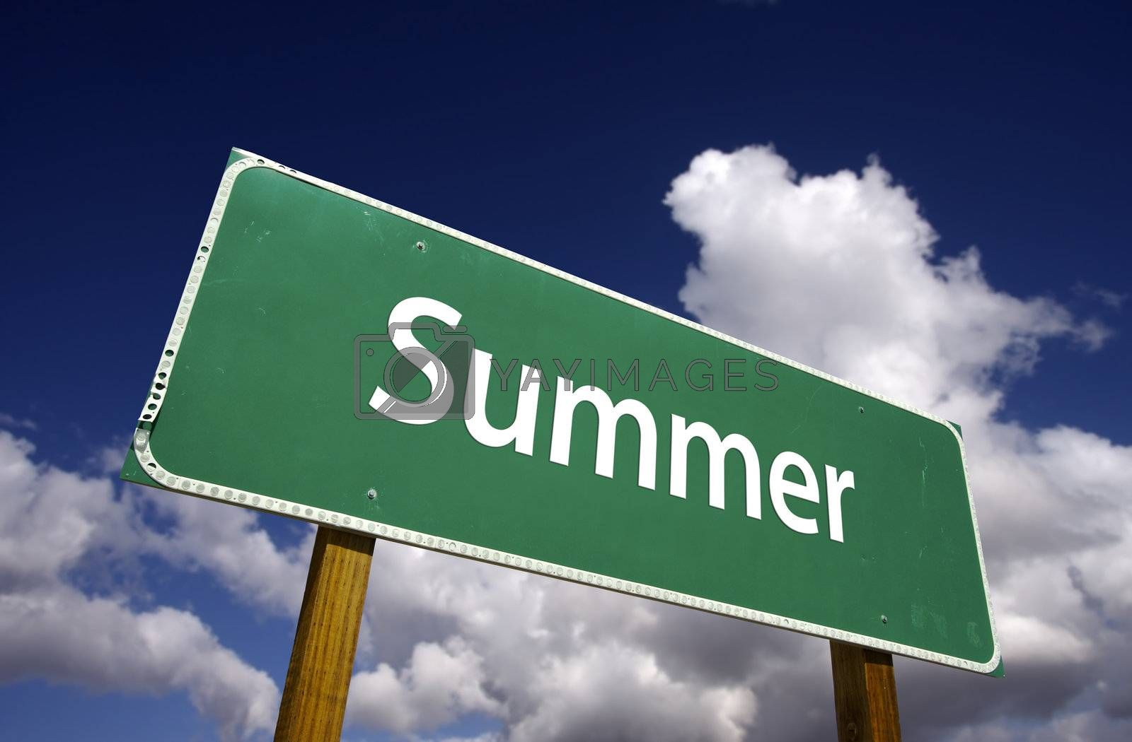 Summer Road Sign by Feverpitched