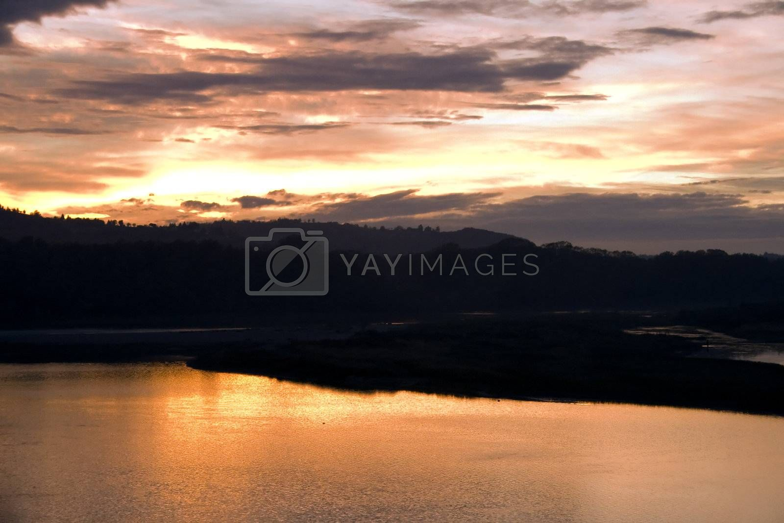 Royalty free image of Sunset on the river by Koufax73