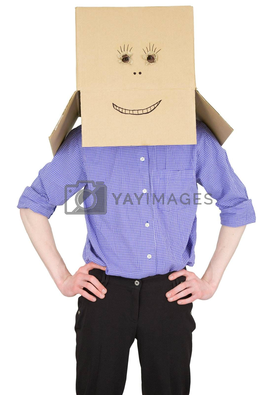 Royalty free image of Man with carton box instead of head by pzaxe