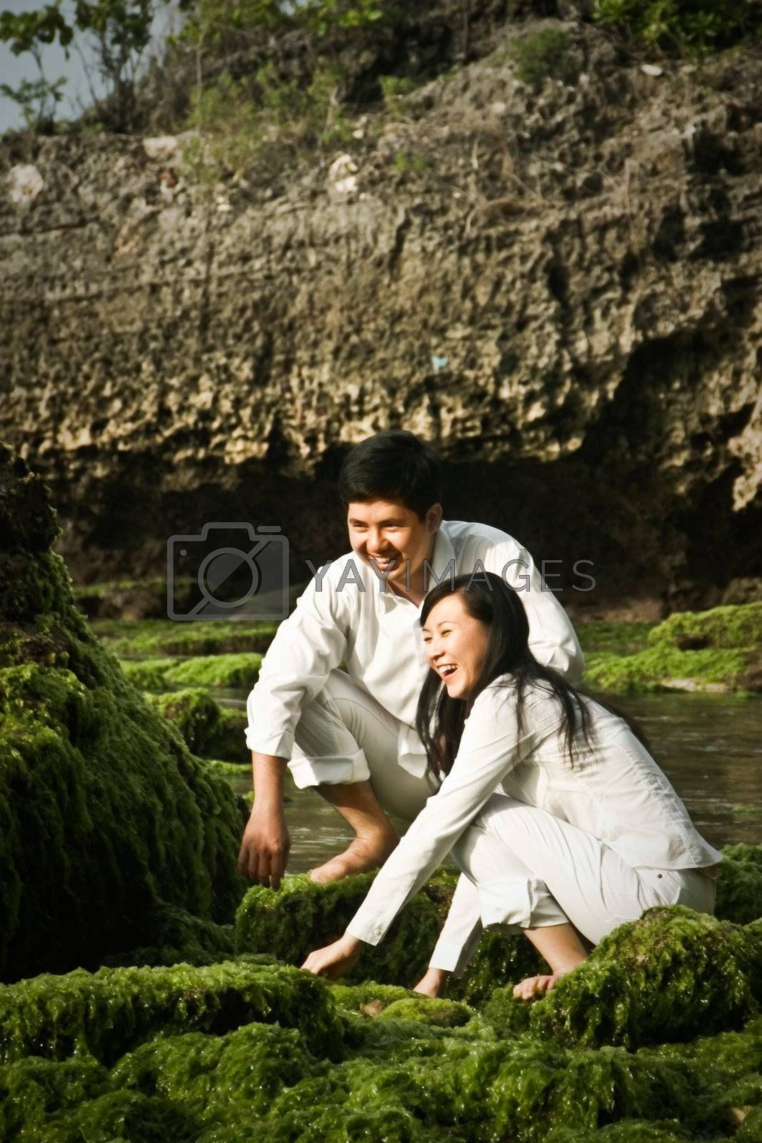 Royalty free image of A Couple in White by zhen2