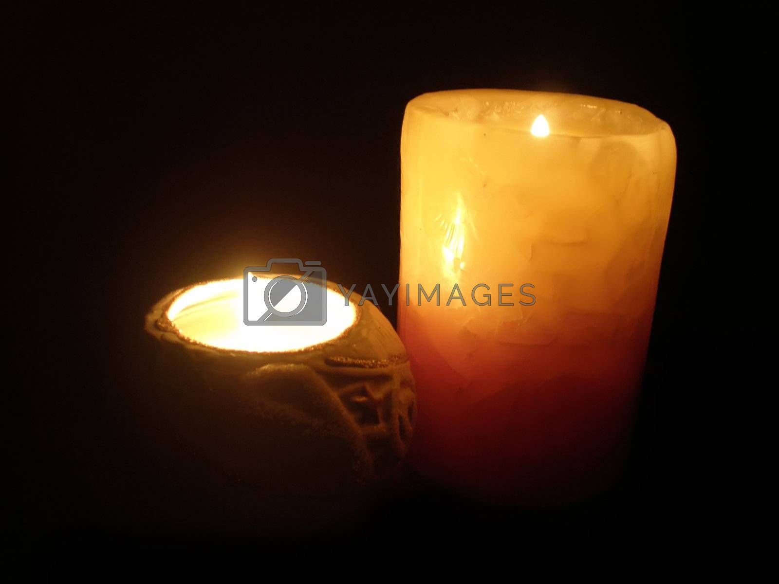 Royalty free image of candle light by Dessie_bg