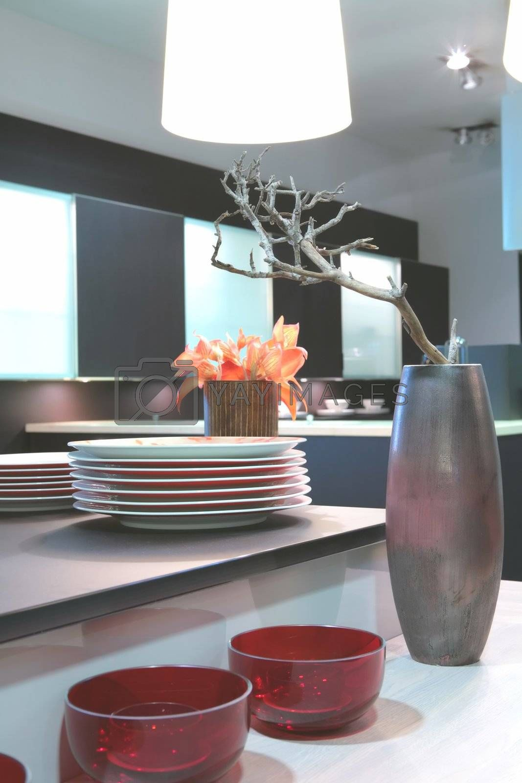 kitchen table with dishes by Astroid