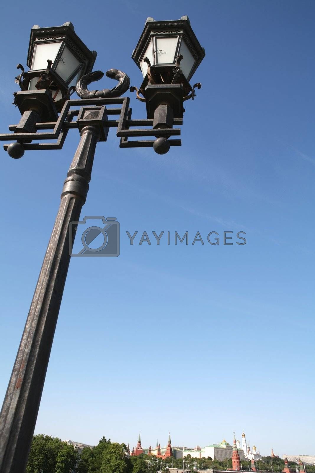 Royalty free image of Old-time Moscow Torch by Astroid