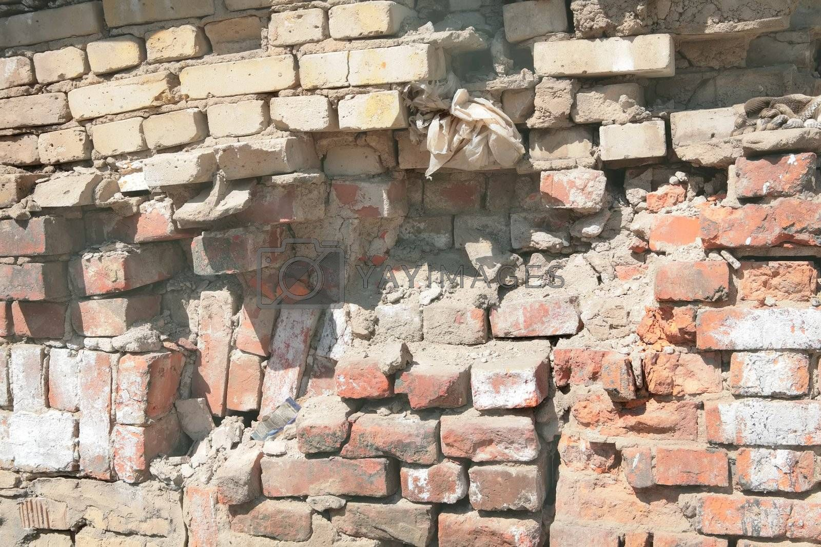 Royalty free image of brickwork wall by Astroid