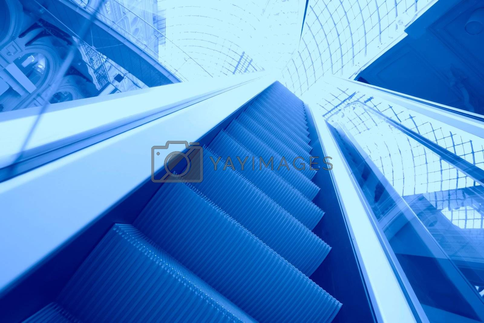 Royalty free image of Blue escalator by Astroid