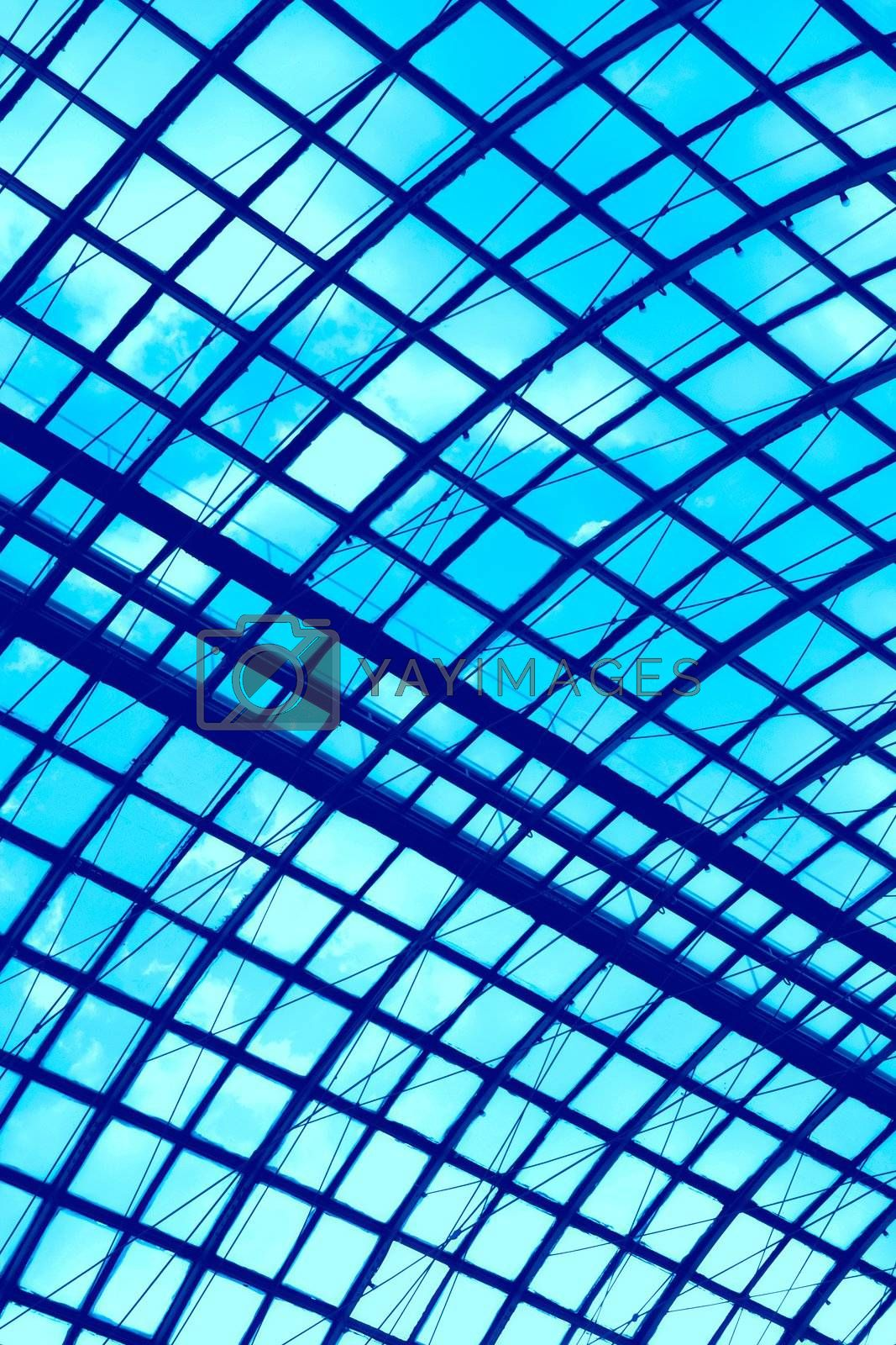 Royalty free image of pattern of the glass ceiling by Astroid