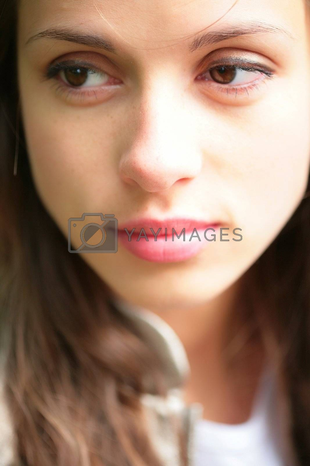 Royalty free image of portrait of the girl with brown eye by Astroid