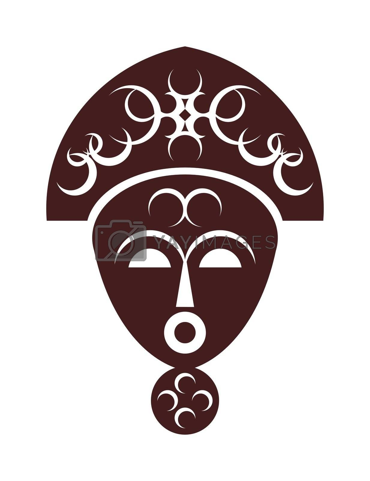 Royalty free image of African mask by jbouzou