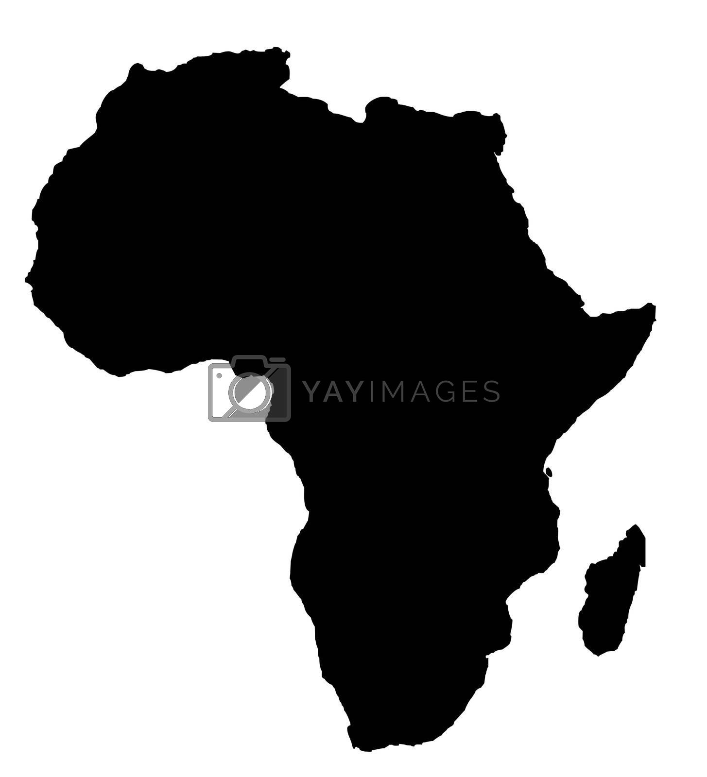 Royalty free image of Outline map of Africa continent in black by speedfighter