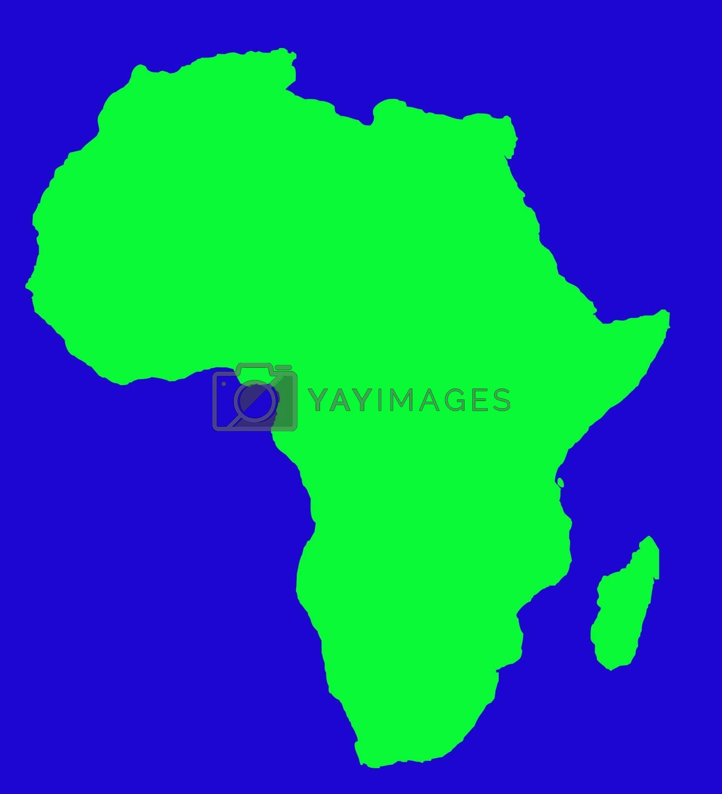Outline Map Of Africa Continent In Green Royalty Free Stock Image Stock Photos Royalty Free Images Vectors Footage Yayimages