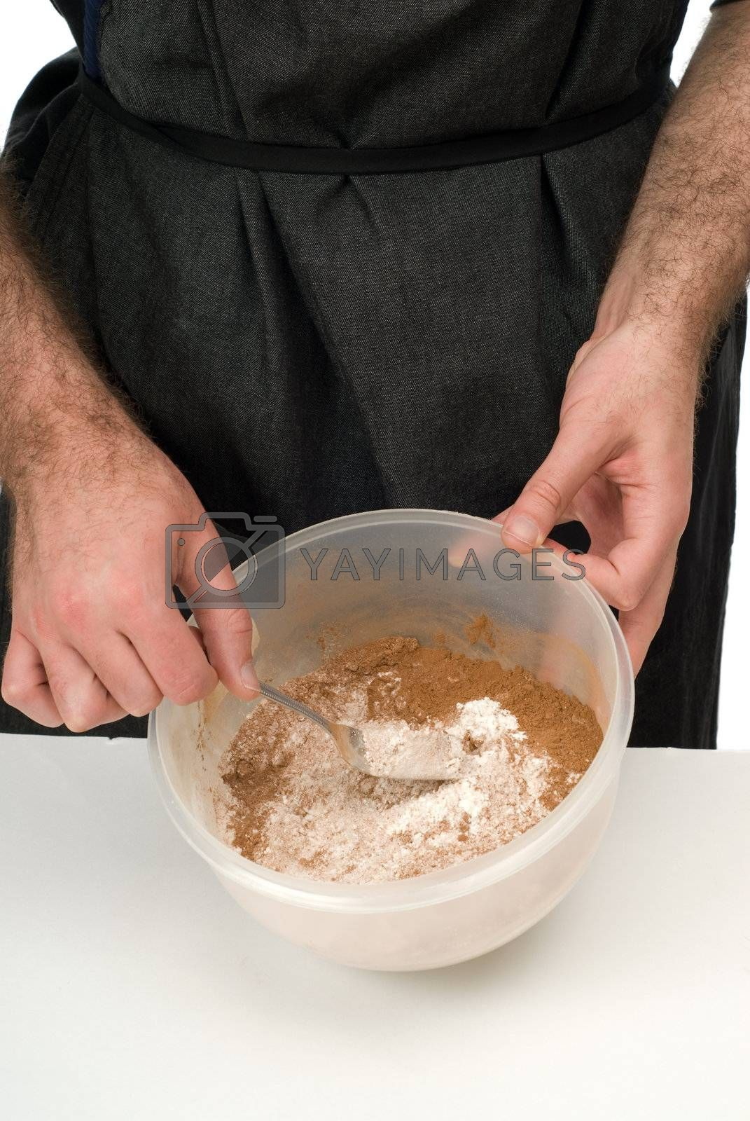 Royalty free image of Sifting Ingredients by dragon_fang