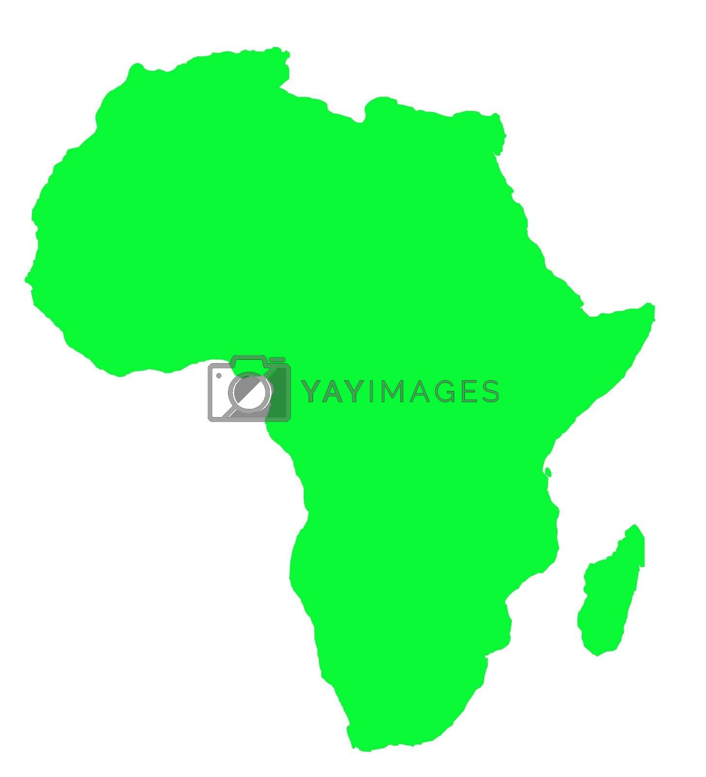 Royalty free image of Outline map of Africa continent in green by speedfighter