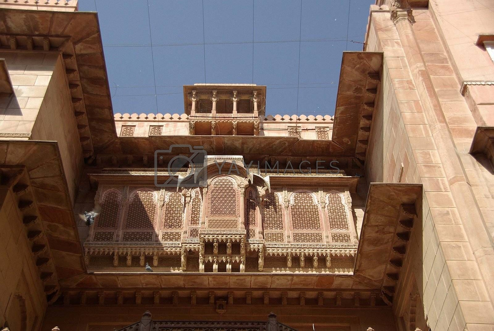 Royalty free image of Bikaner fort, Rajasthan by pascalou95