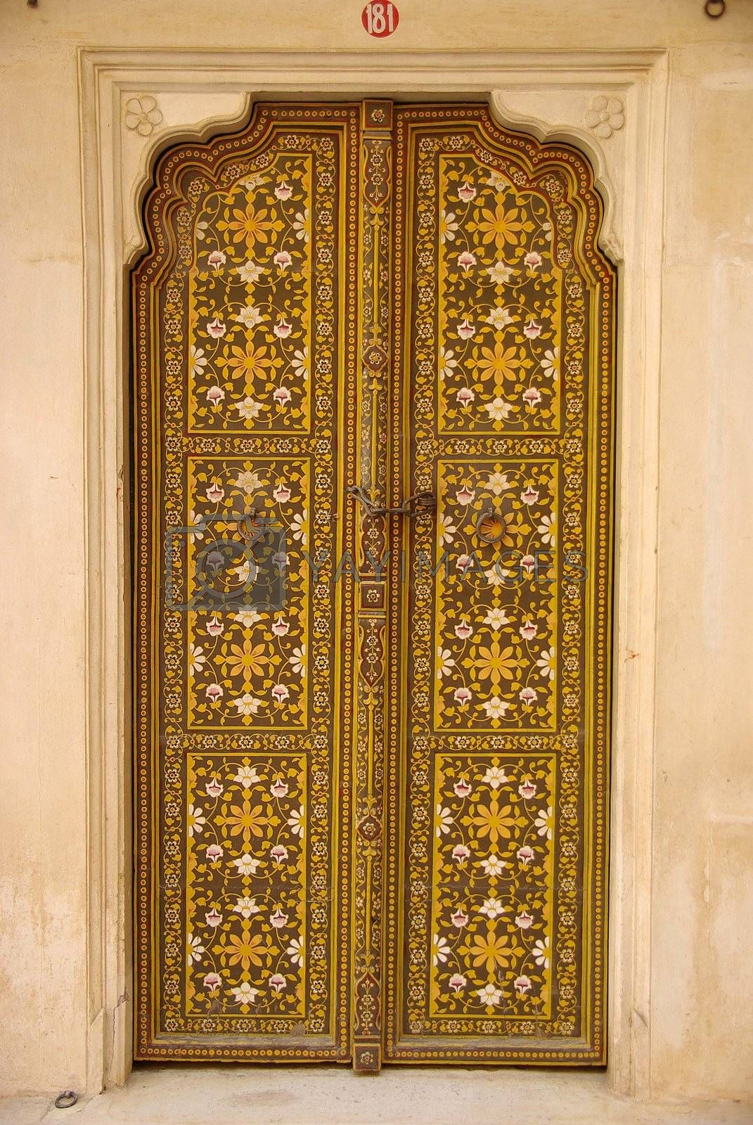 Door in Bikaner fort, Rajasthan by pascalou95