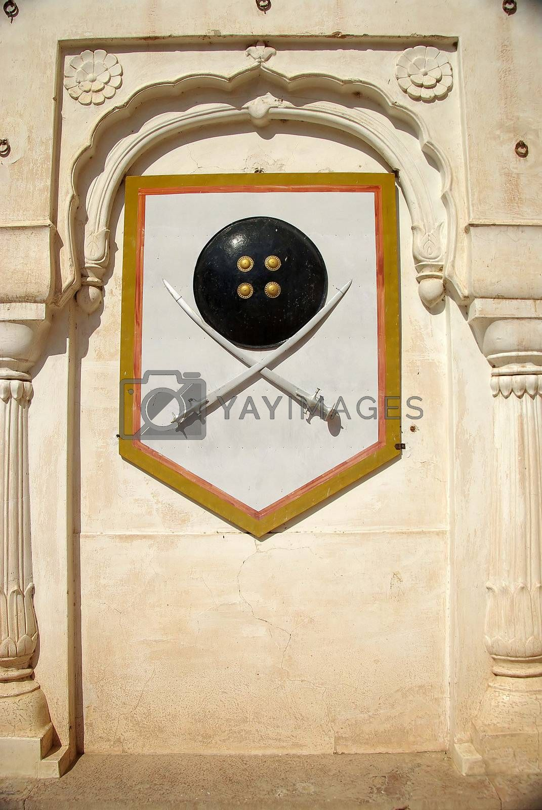 Blazon in Bikaner fort, Rajasthan by pascalou95