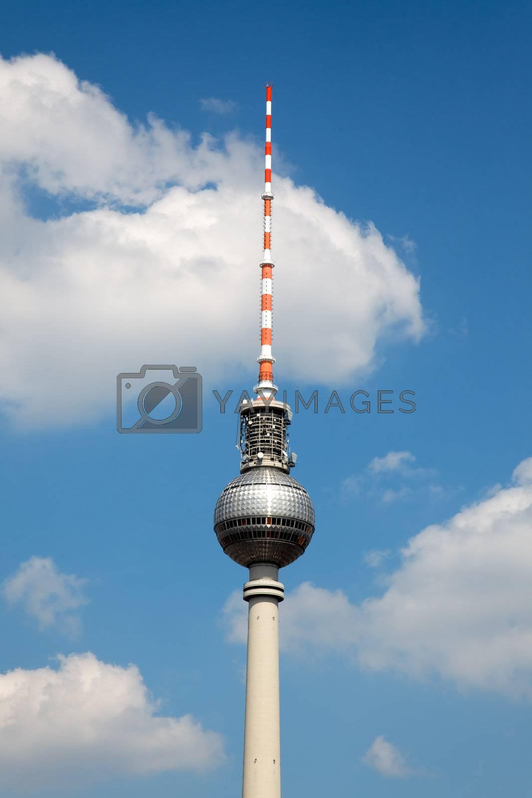 Berlin tv tower -  fernsehturm in Berlin Germany