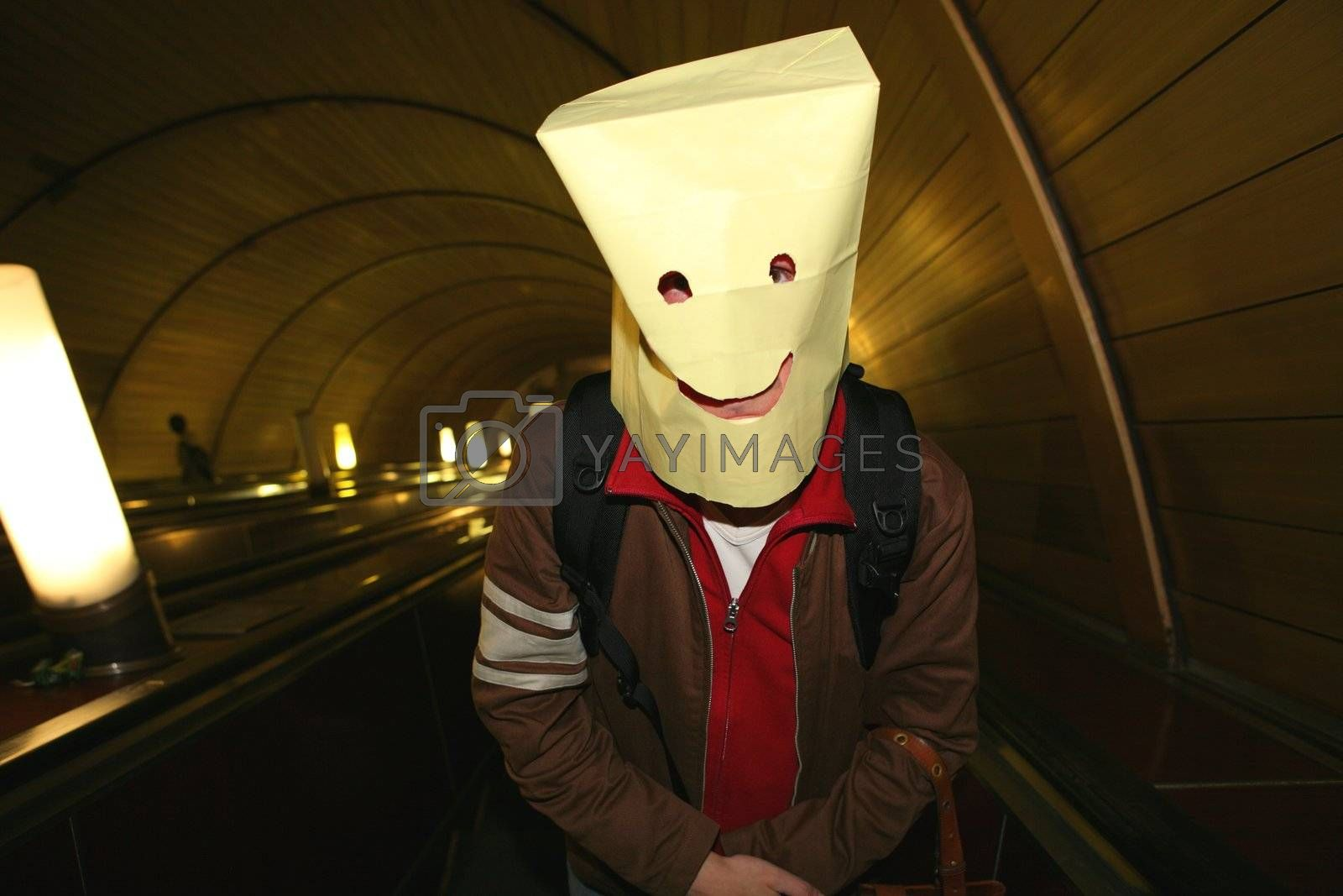 Royalty free image of Package-Head, Funny Smiling Man by Astroid