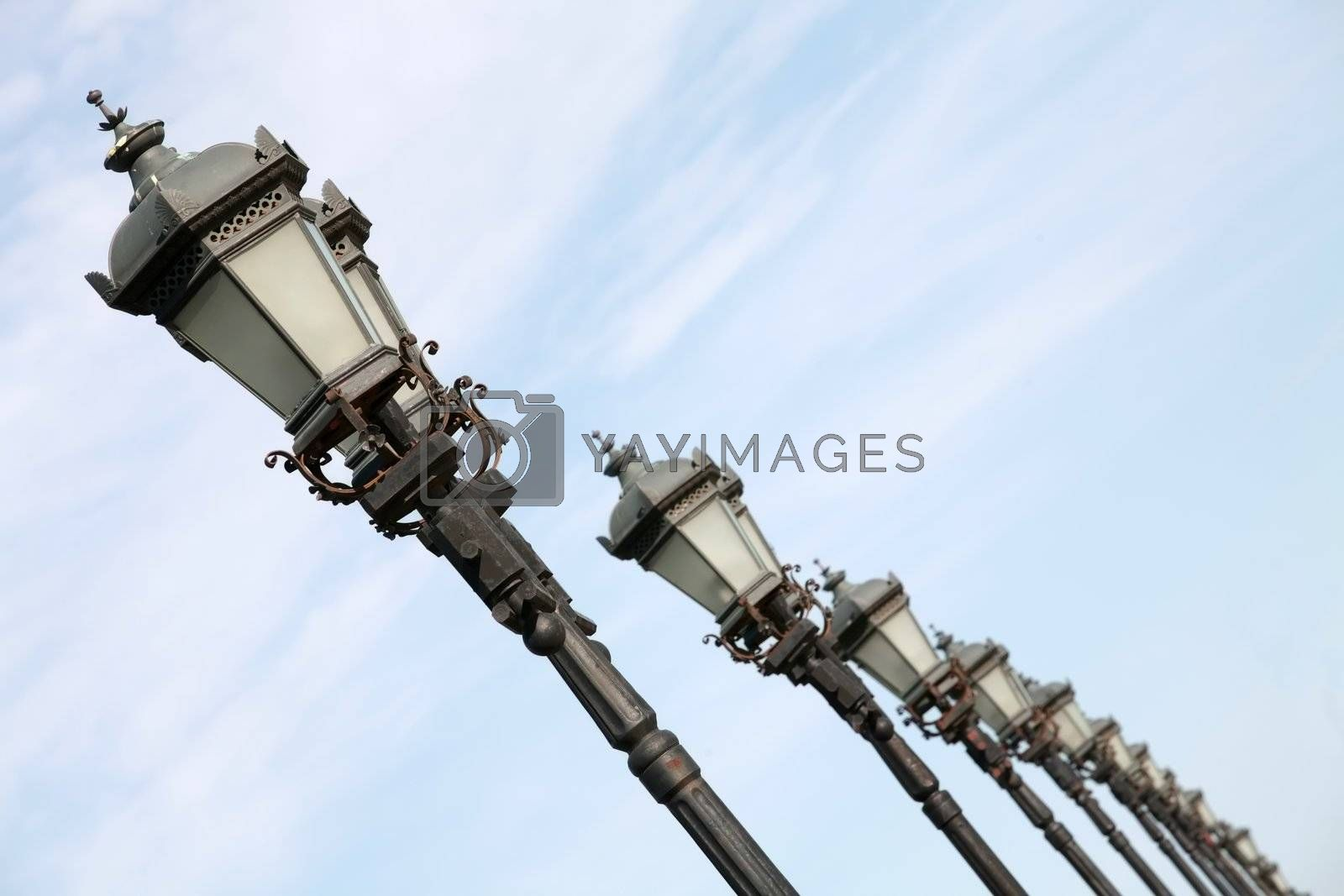 Royalty free image of Old-time Moscow Street Lamps by Astroid