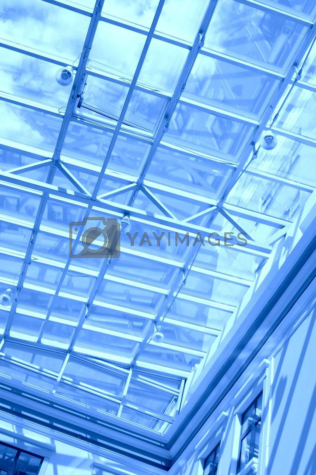 Royalty free image of blue transparent ceiling by Astroid