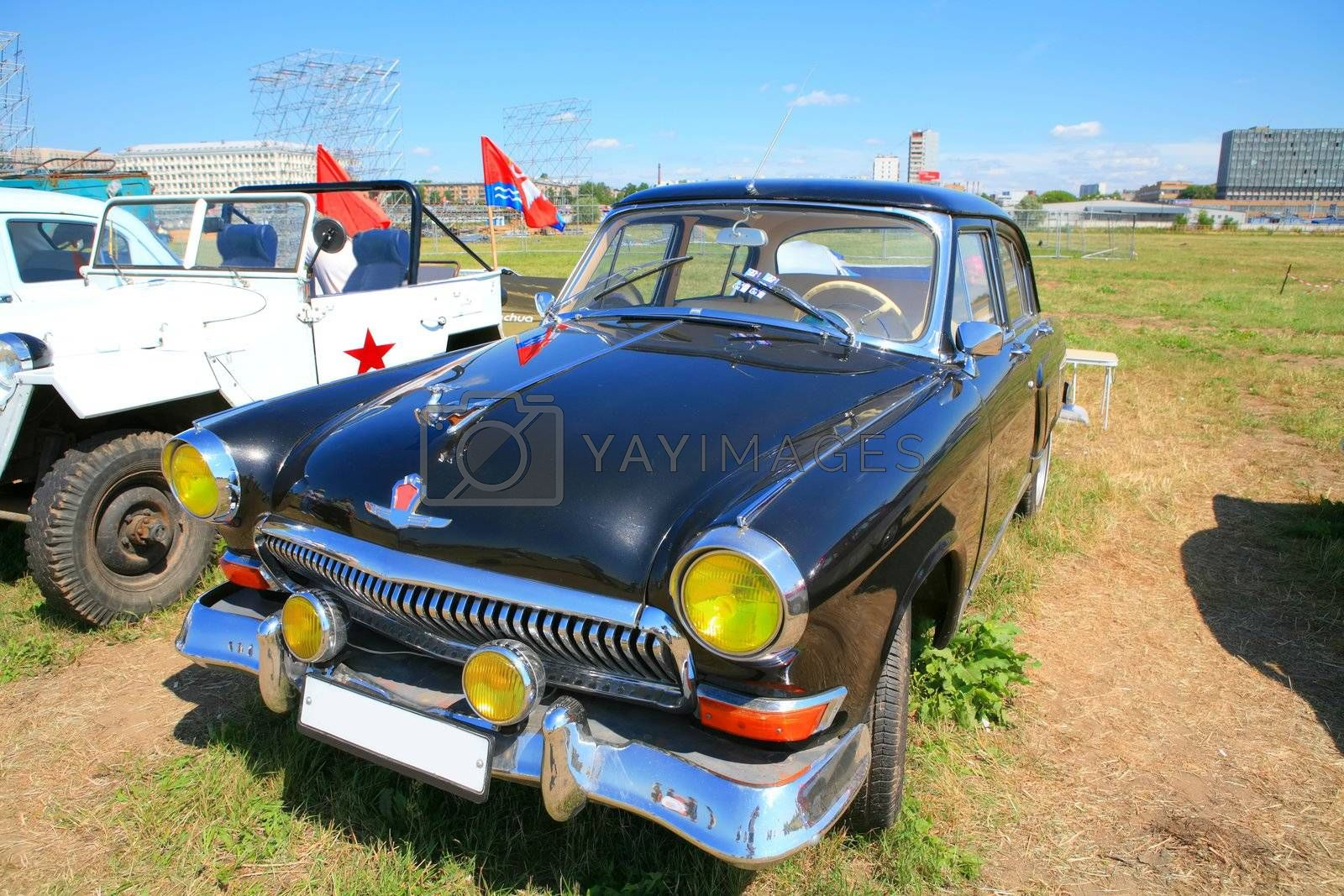Royalty free image of black russian car 60-70-h by Astroid