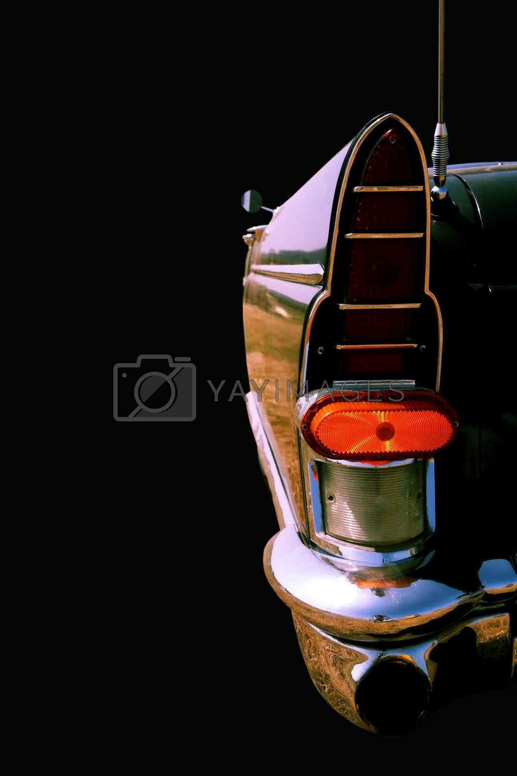 Royalty free image of Vintage Classical American Car, Close-Up by Astroid