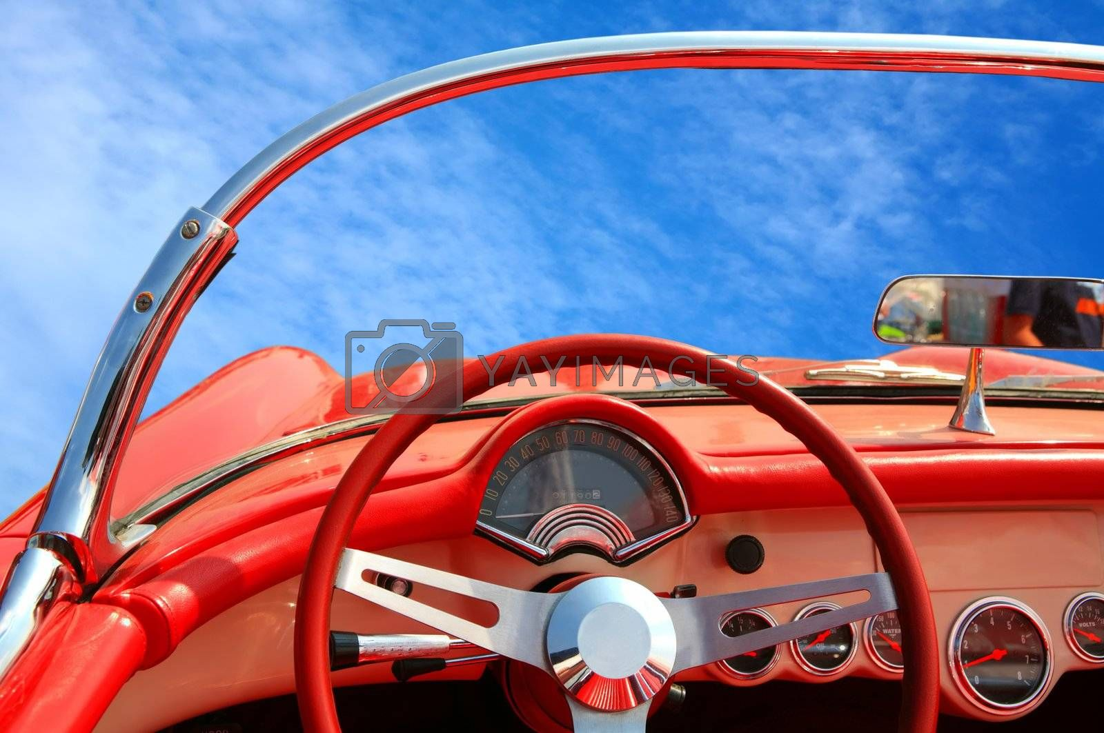 Royalty free image of stylish car by Astroid
