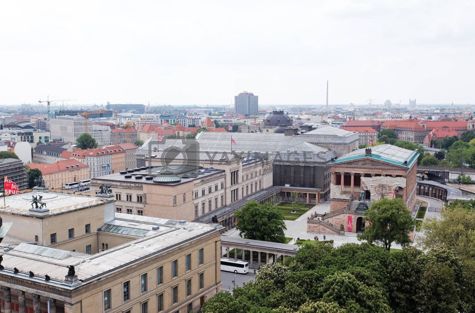 aerial view of central Berlin from the top of Berliner Dom