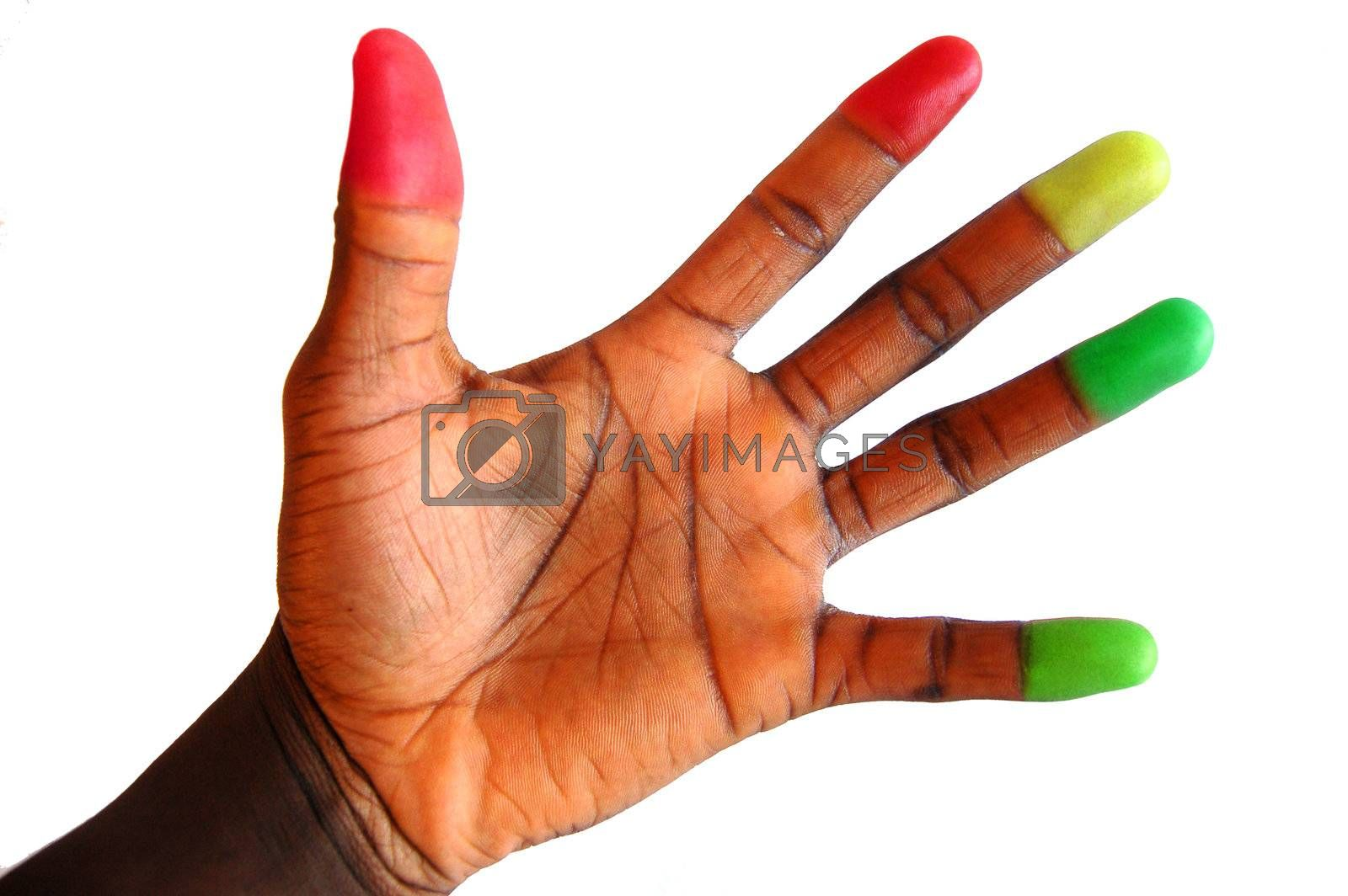 Royalty free image of Hand Attention  by Imabase