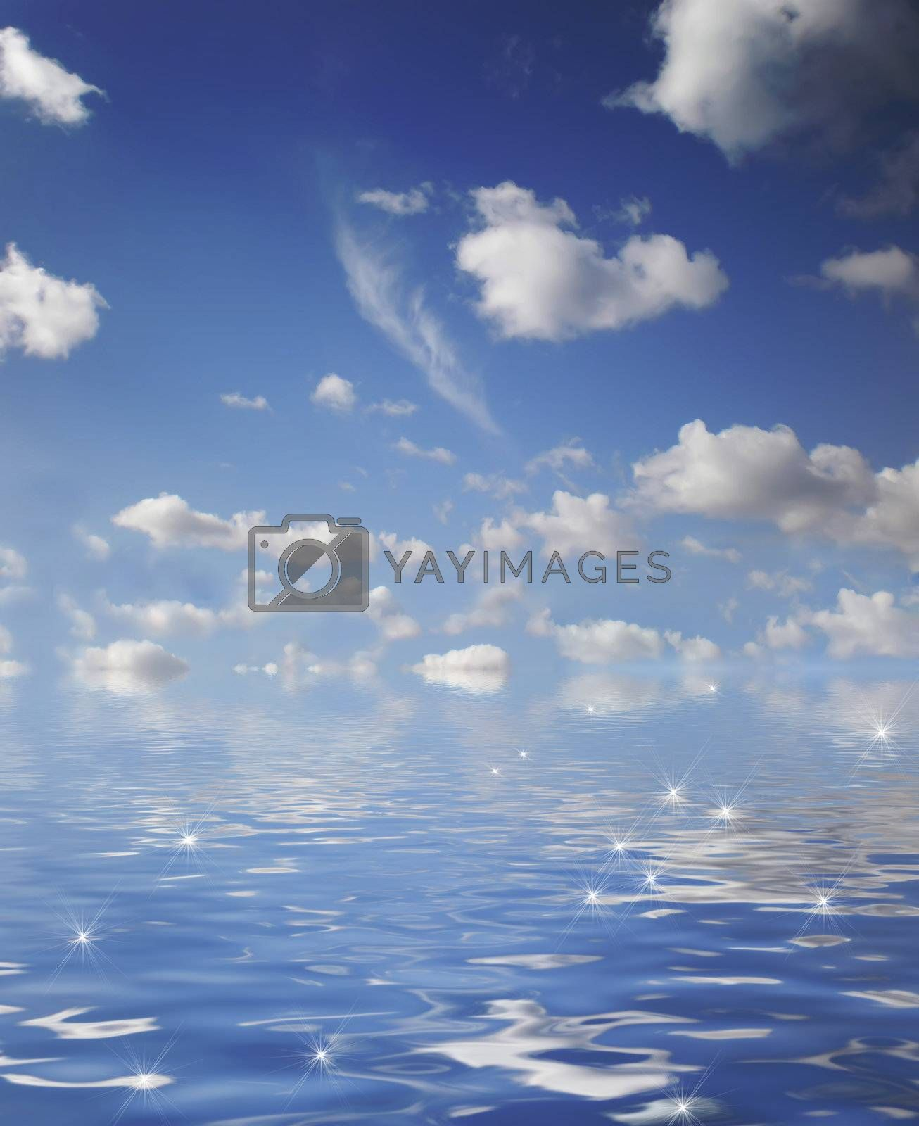 Royalty free image of sky and ocean by Dessie_bg