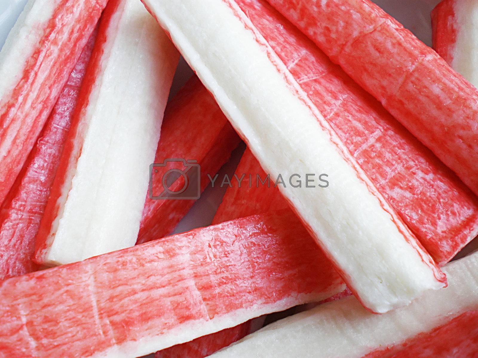 Royalty free image of crab sticks by Dessie_bg