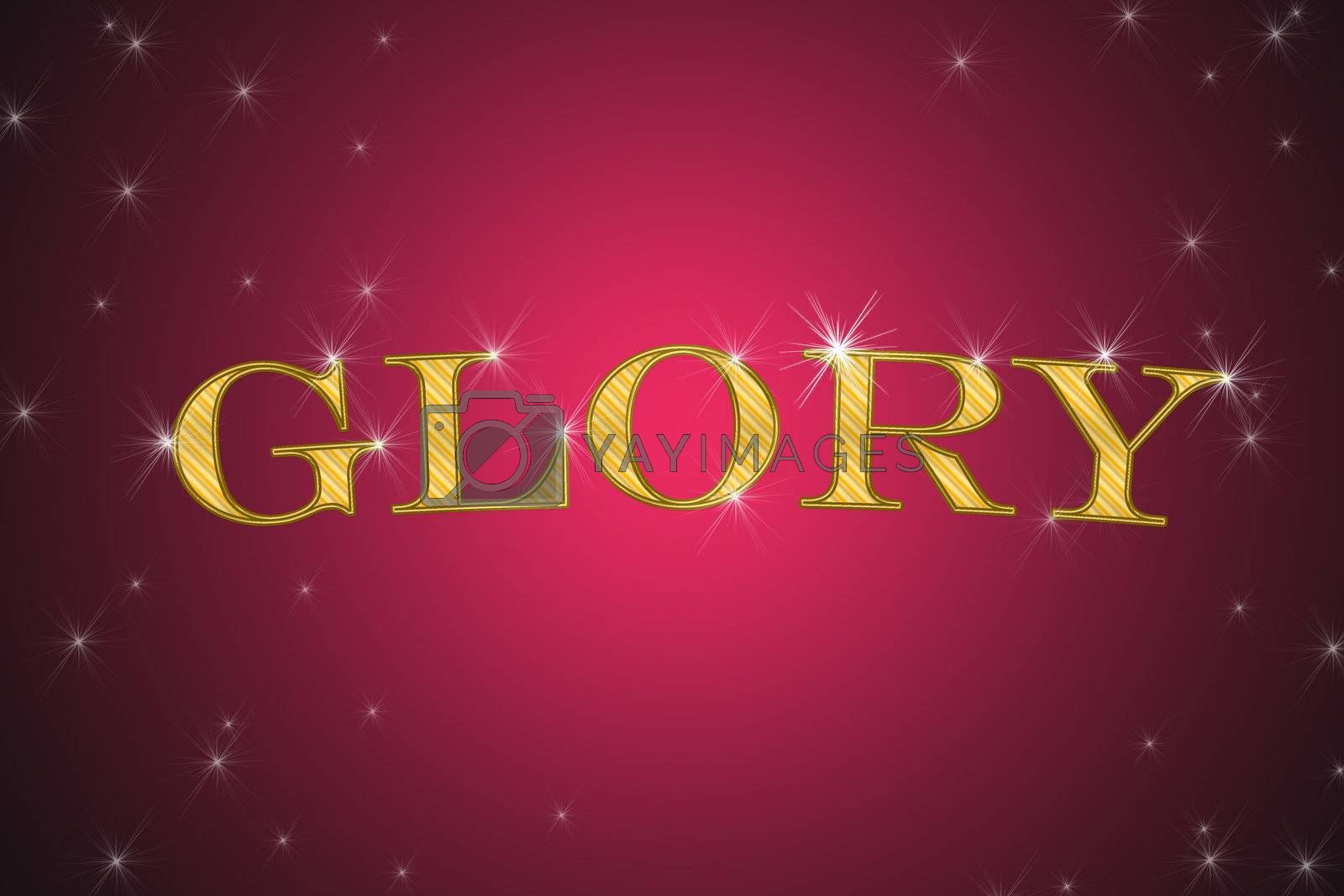Royalty free image of golden sign, written word glory by Dessie_bg