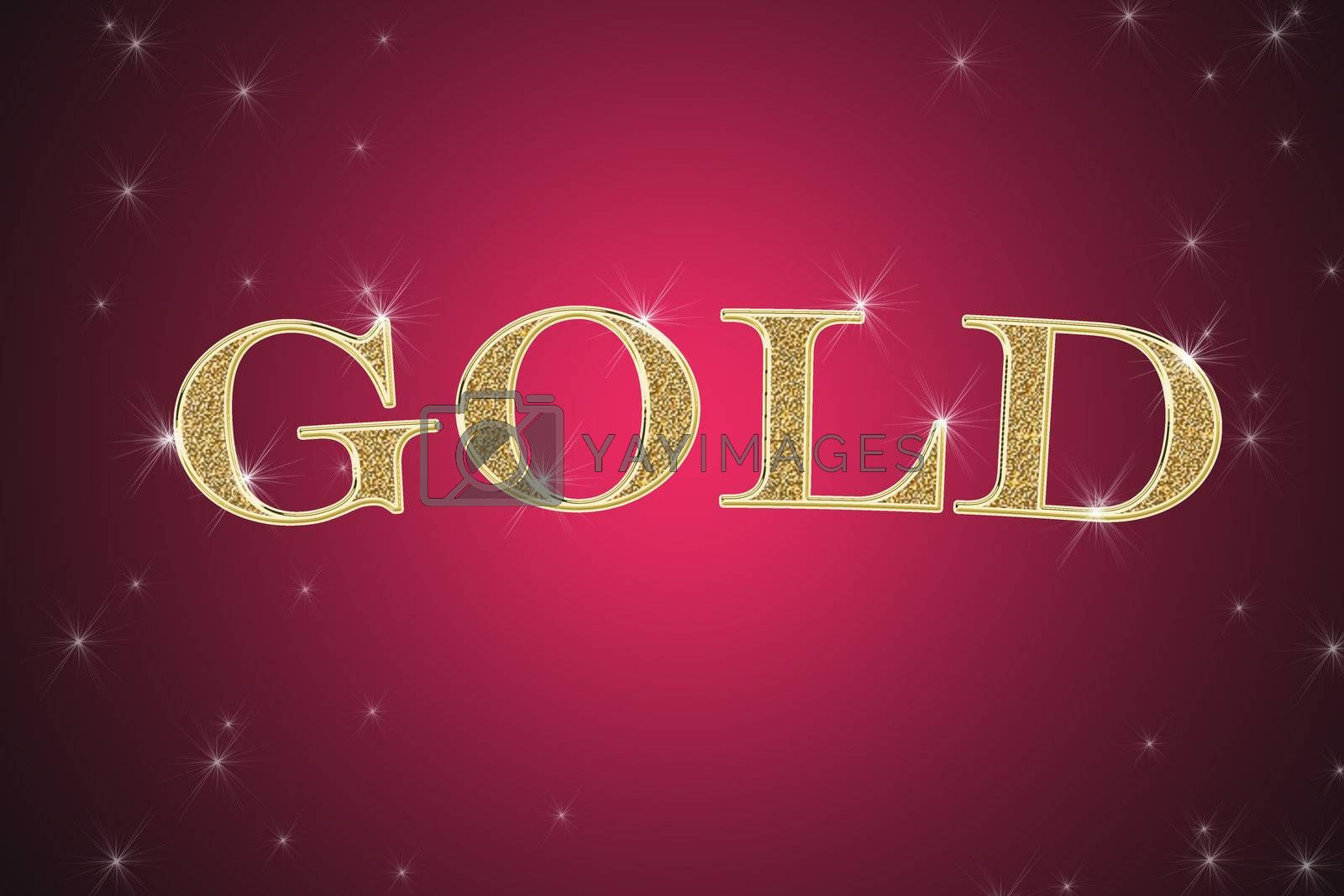 Royalty free image of golden sign, written word gold by Dessie_bg