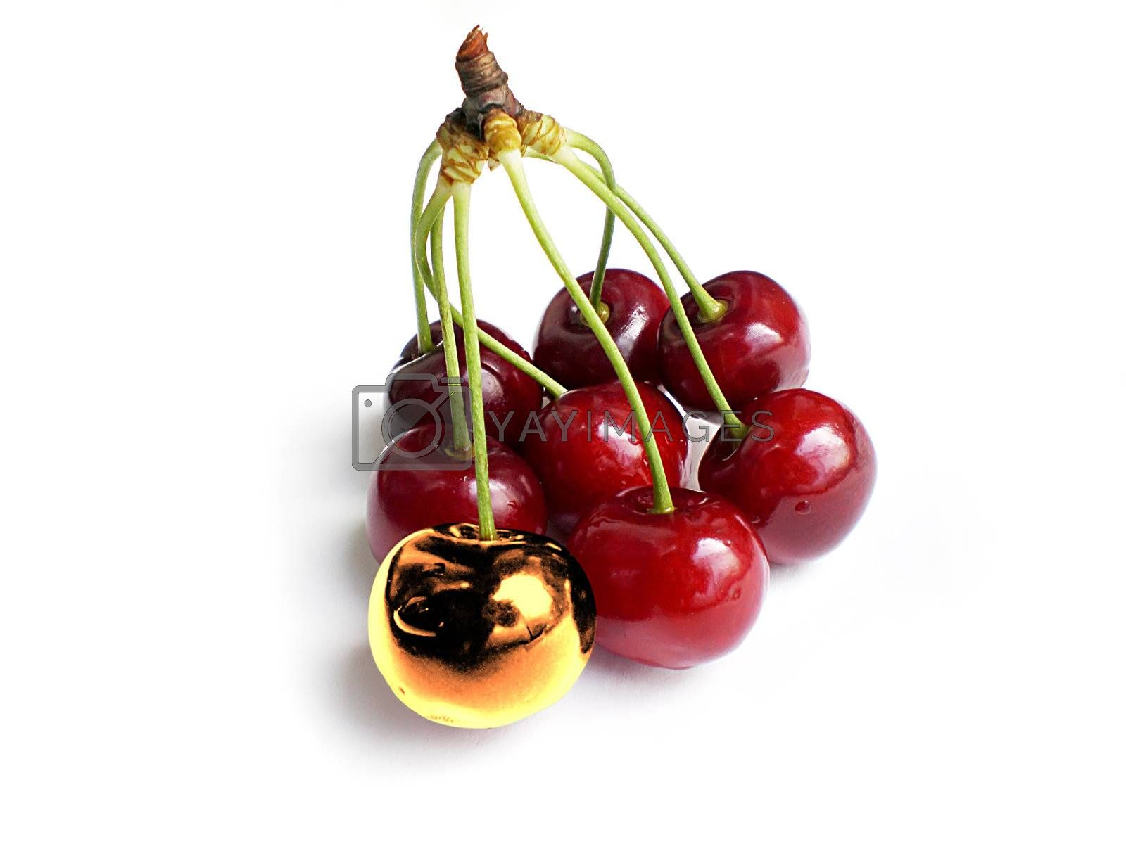 Royalty free image of unique cherry by Dessie_bg