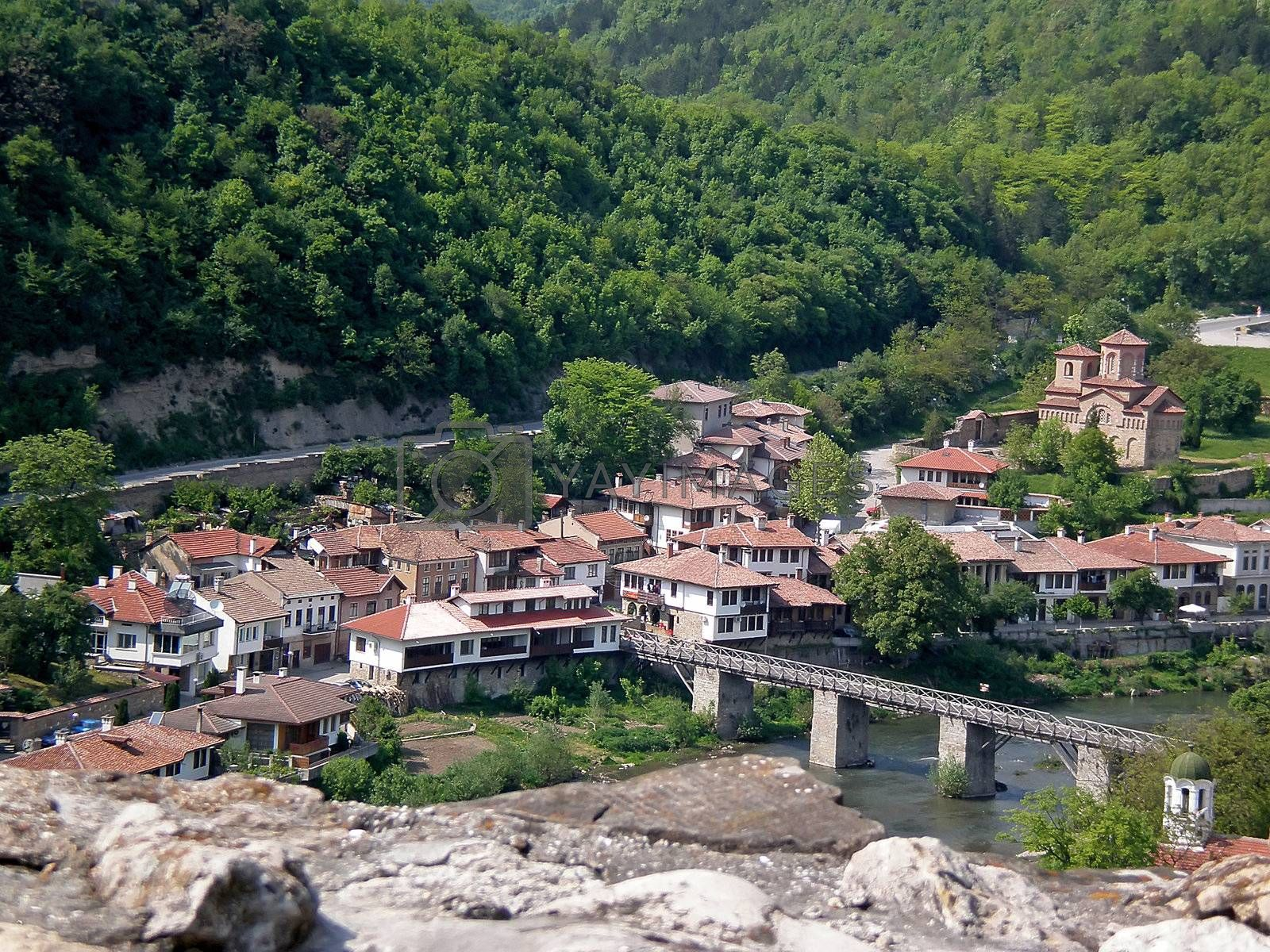 Royalty free image of city view with old houses Veliko Turnovo by Dessie_bg