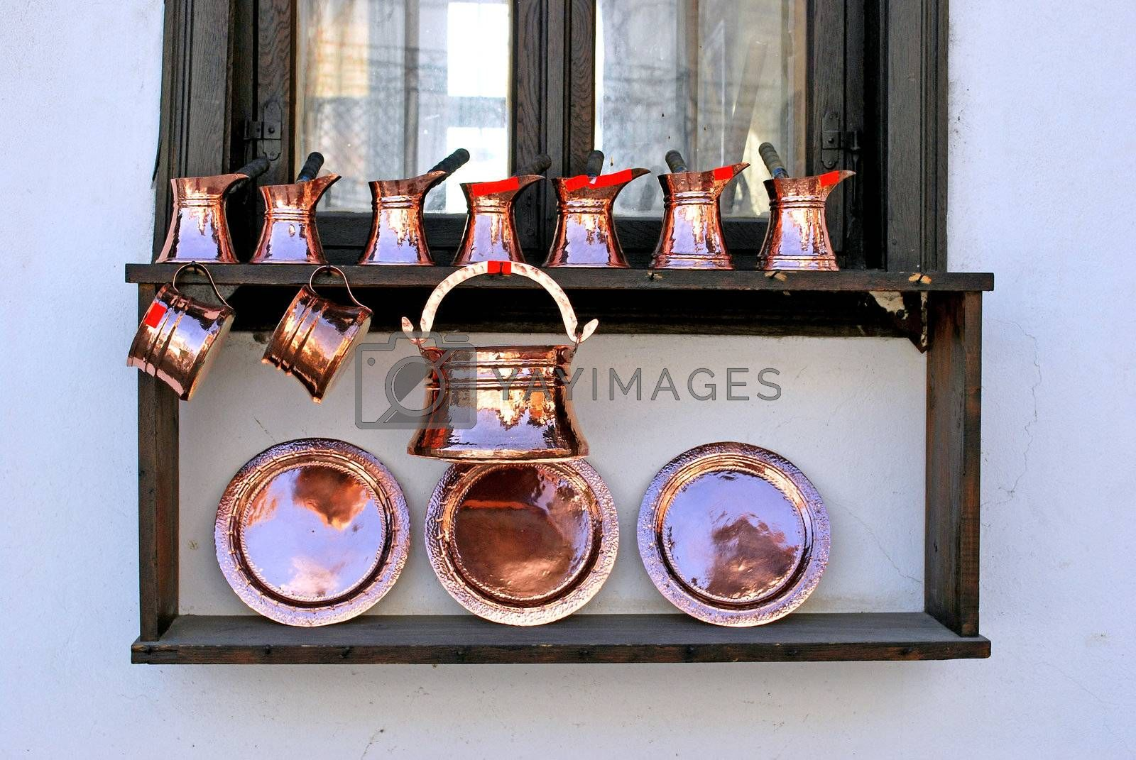 Royalty free image of copper utensils by Dessie_bg