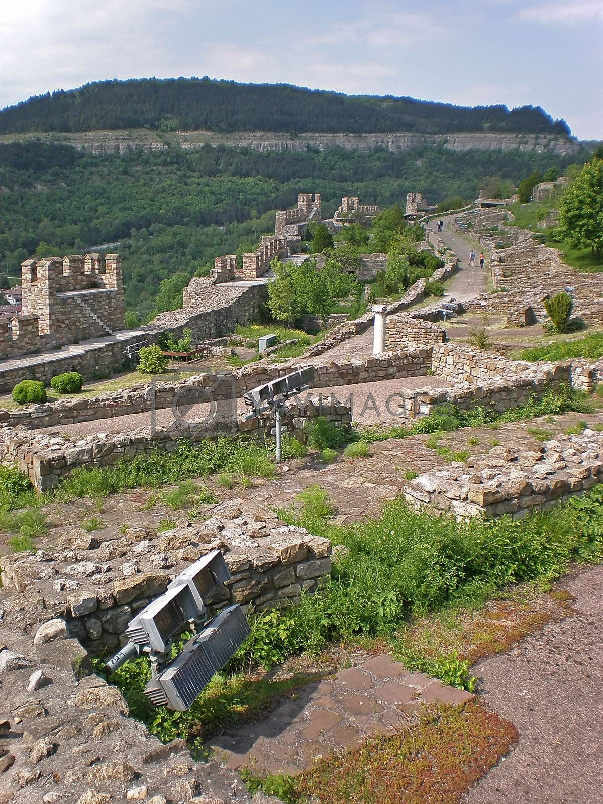 Royalty free image of Tsarevets fortress by Dessie_bg