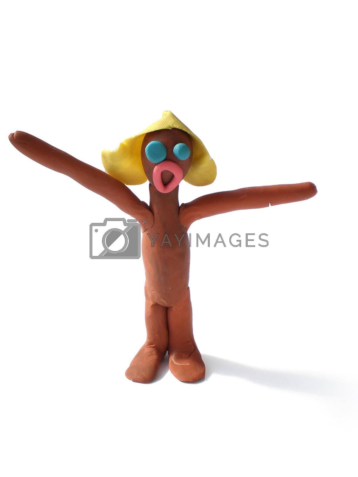 Royalty free image of plasticine people figures saying hi by Dessie_bg