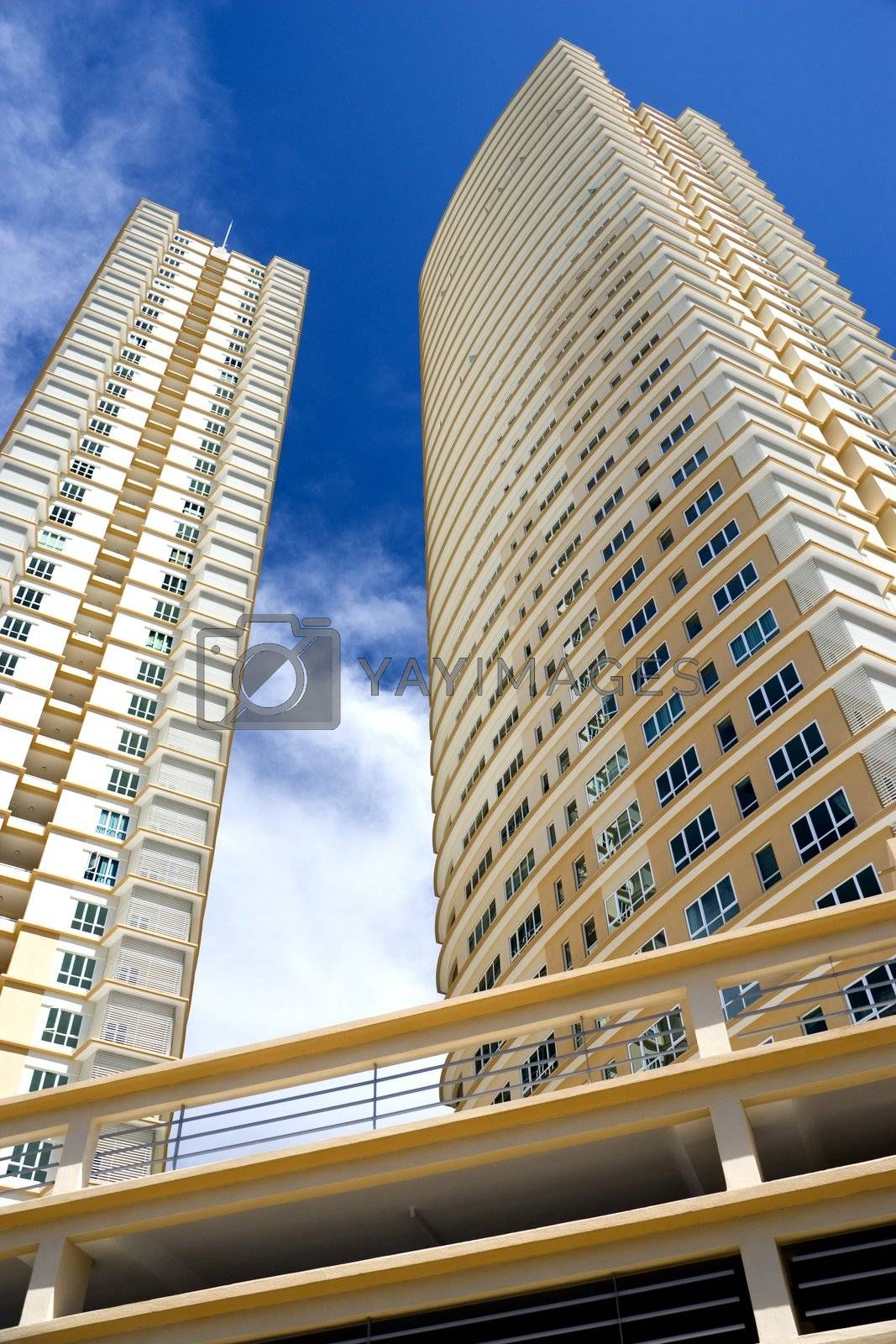 Royalty free image of Modern Hi-Rise Apartments by shariffc