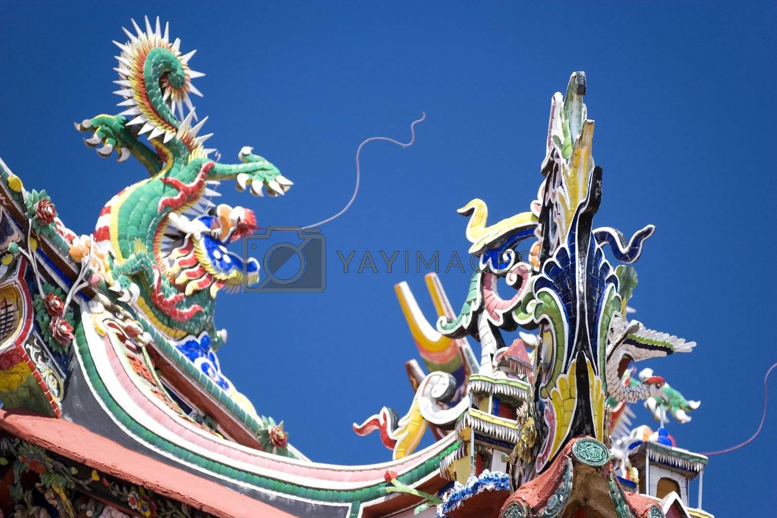Royalty free image of Chinese Temple Roof by shariffc