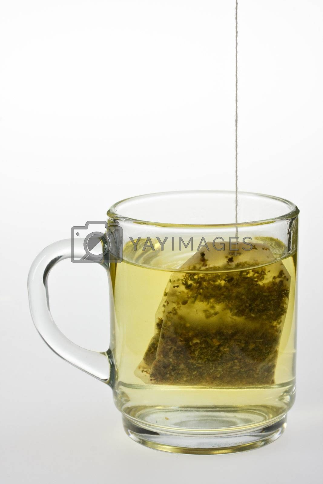 Royalty free image of glass of herbal tea isolated on white by bernjuer