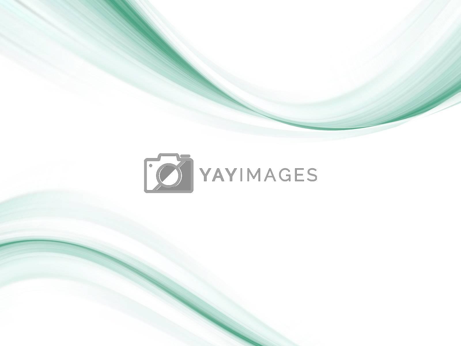 blue waves on white background. movement illustration