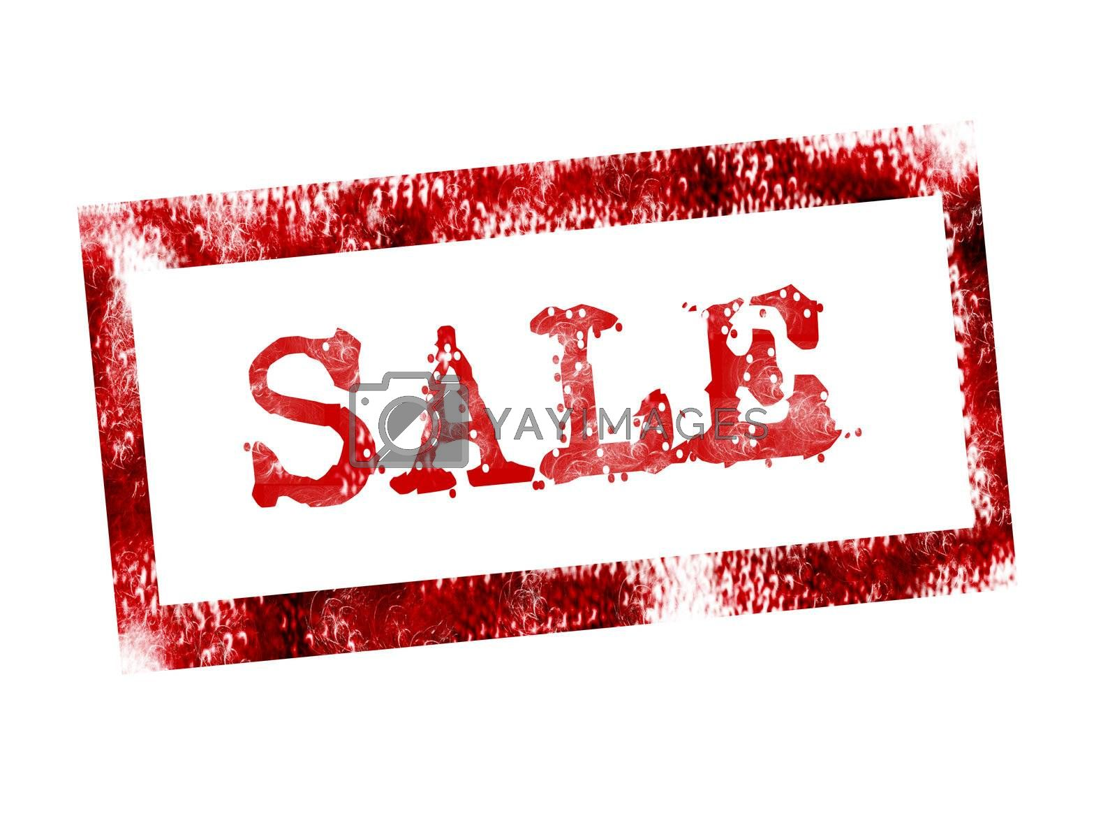 red sale stamp on white background. illustration