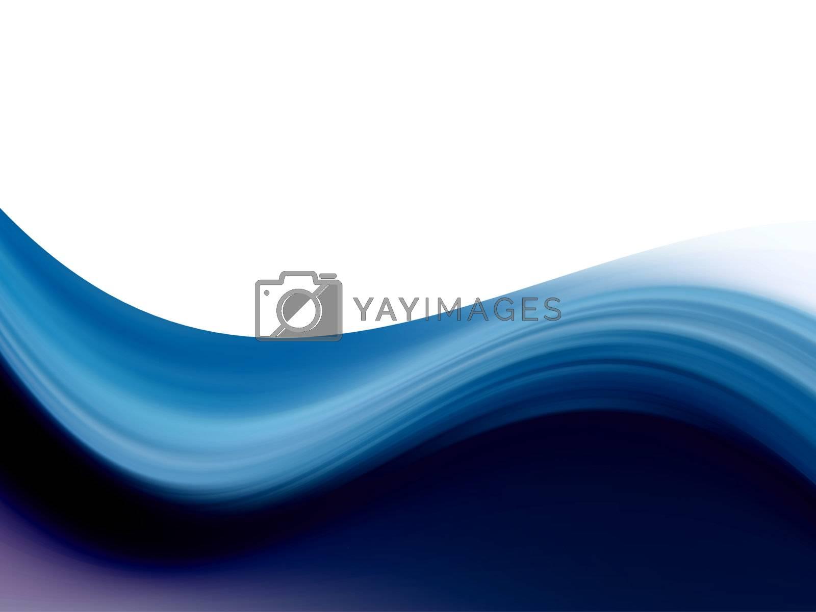 blue dynamic wave on white background illustration