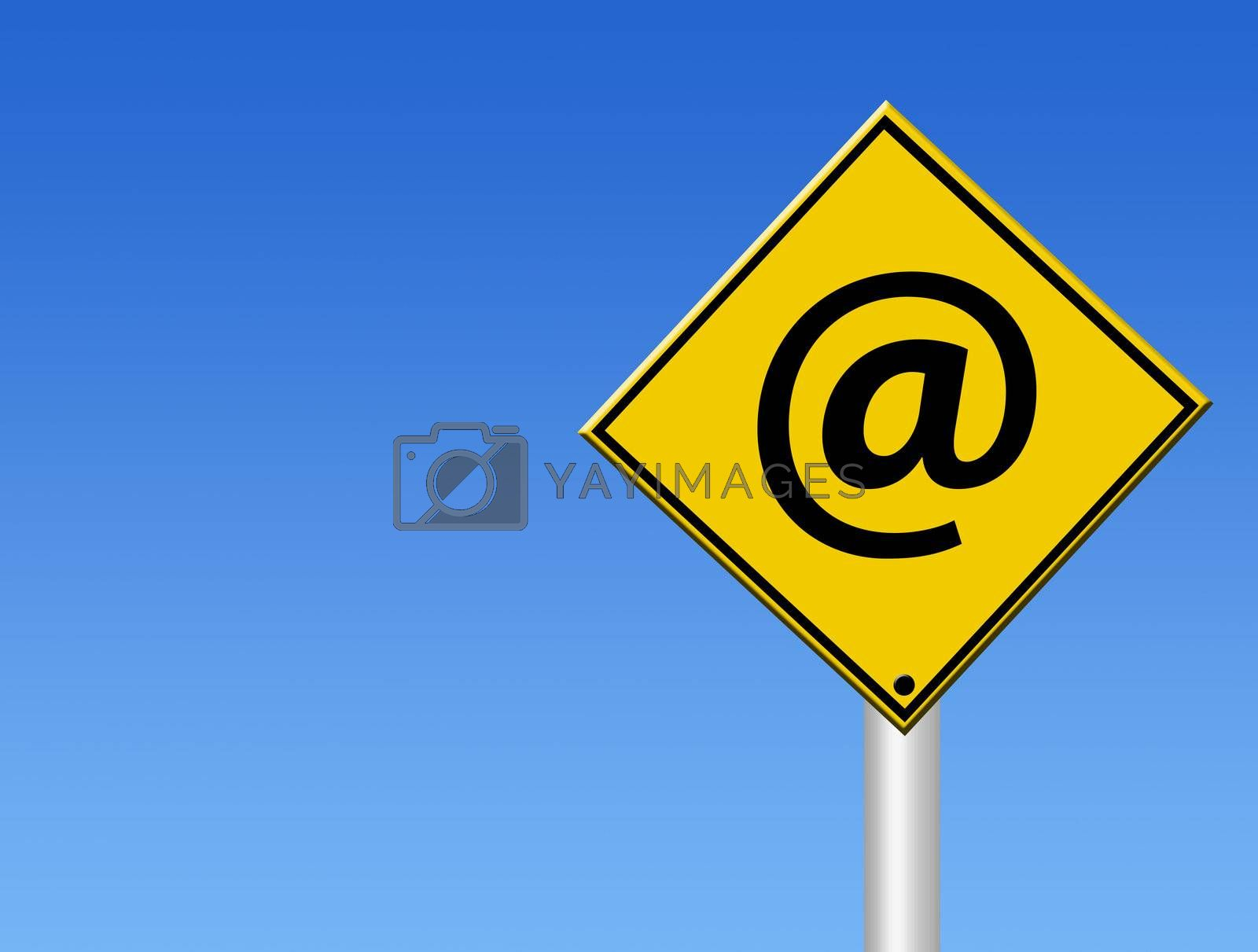 internet signal on blue background. business illustration