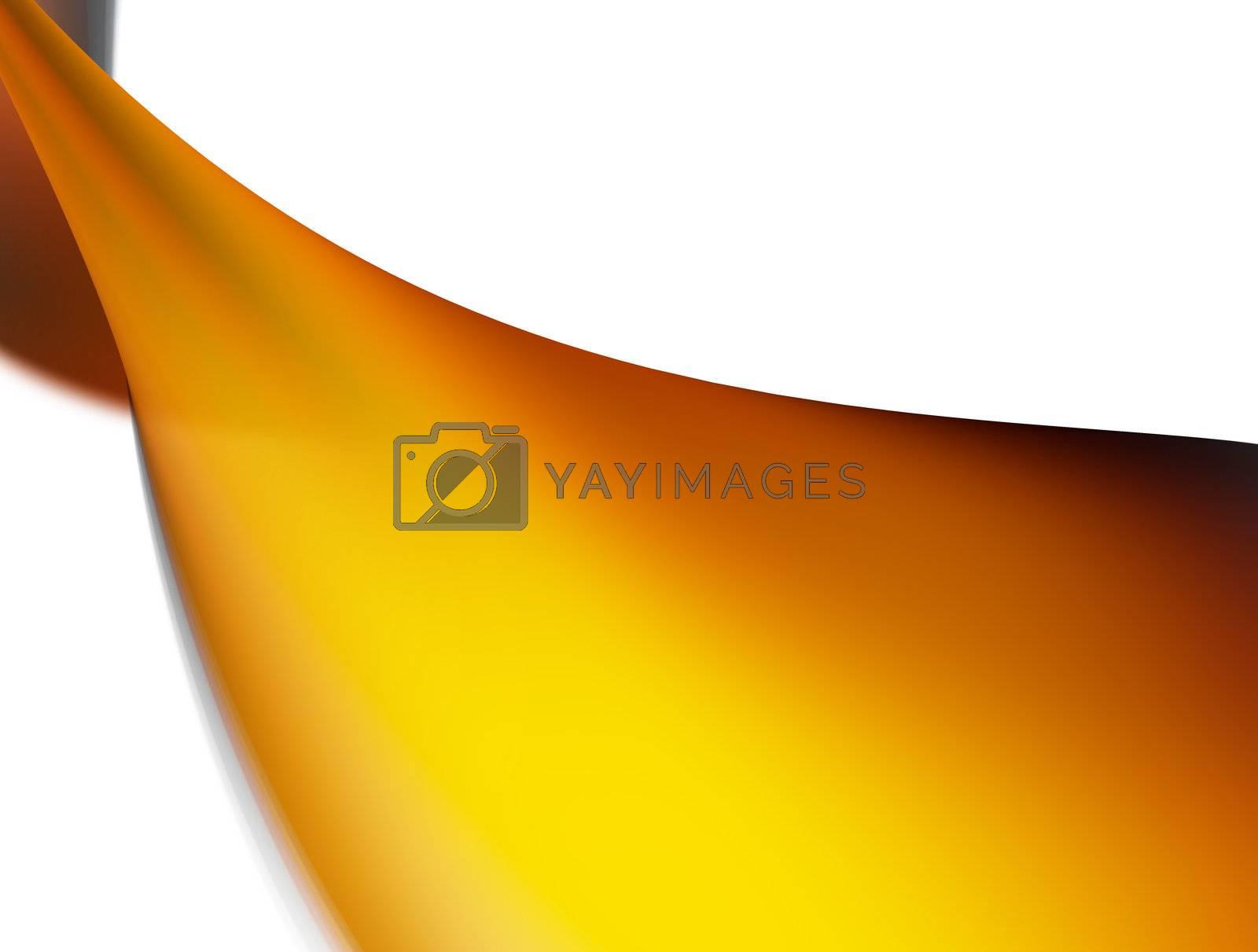 dynamic orange wave on white background. illustration