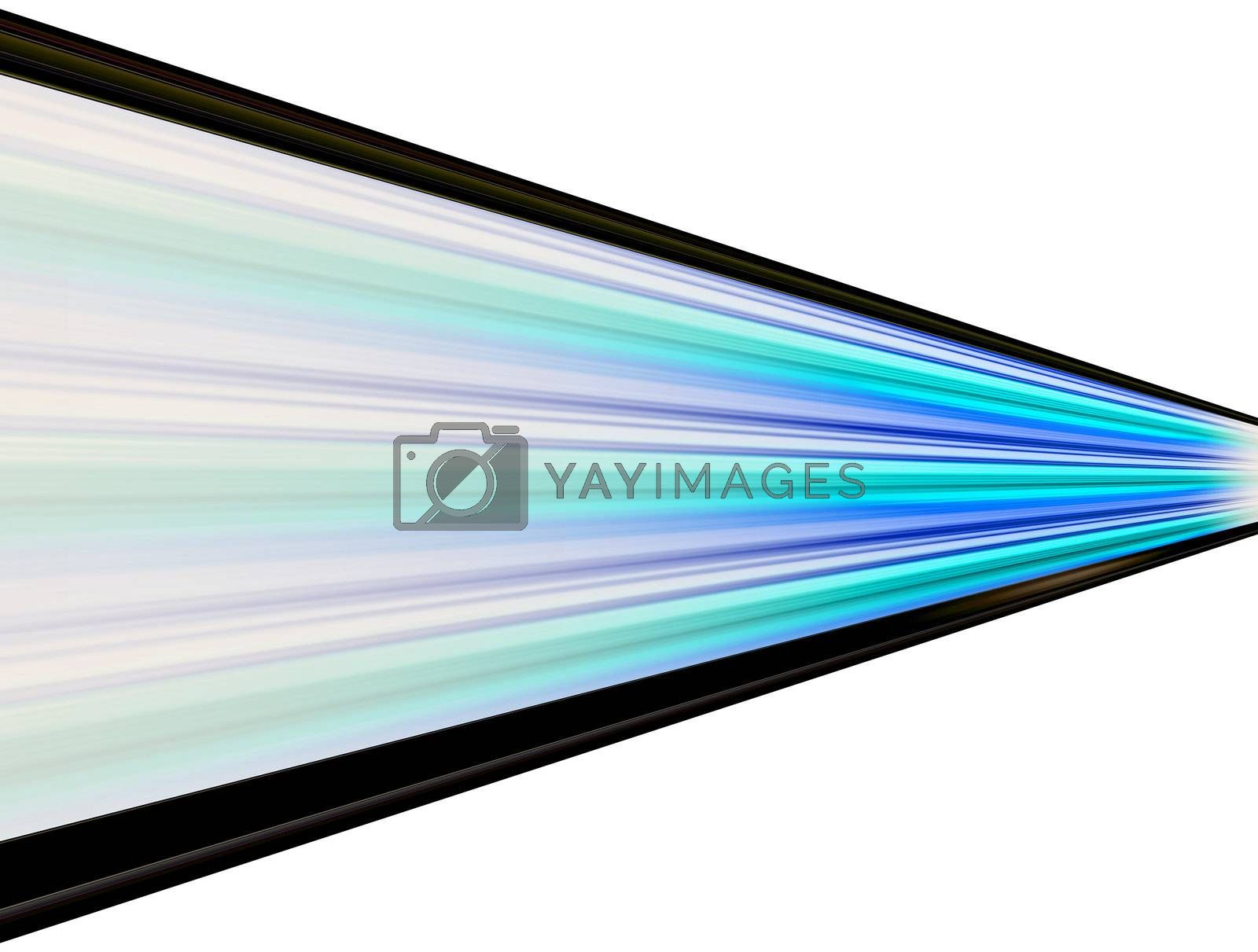 blue and black lines on white background