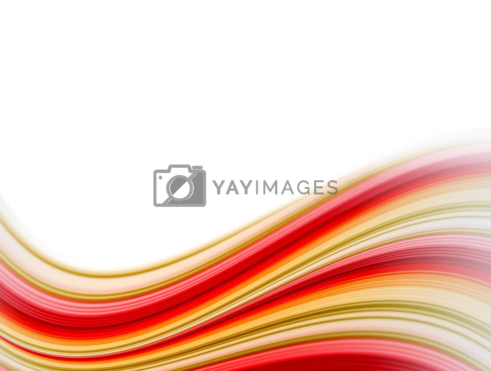 red, orange and green waves. dynamic effects