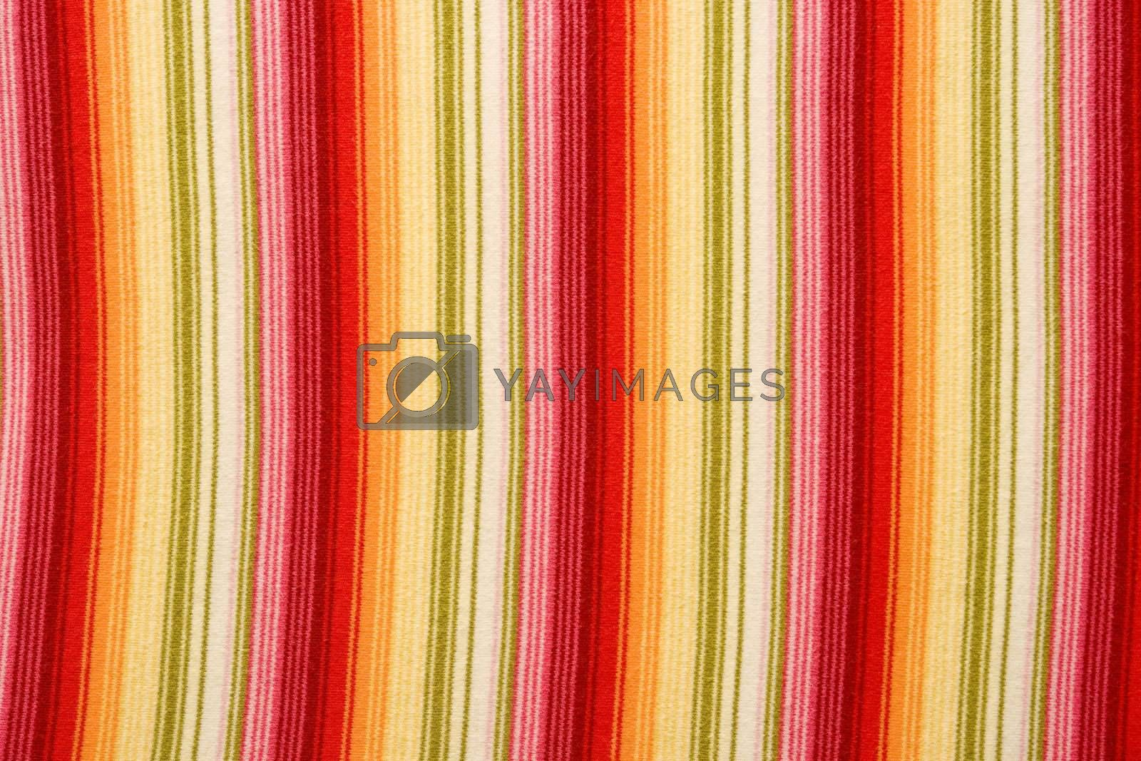 material texture with orange, red and green colors