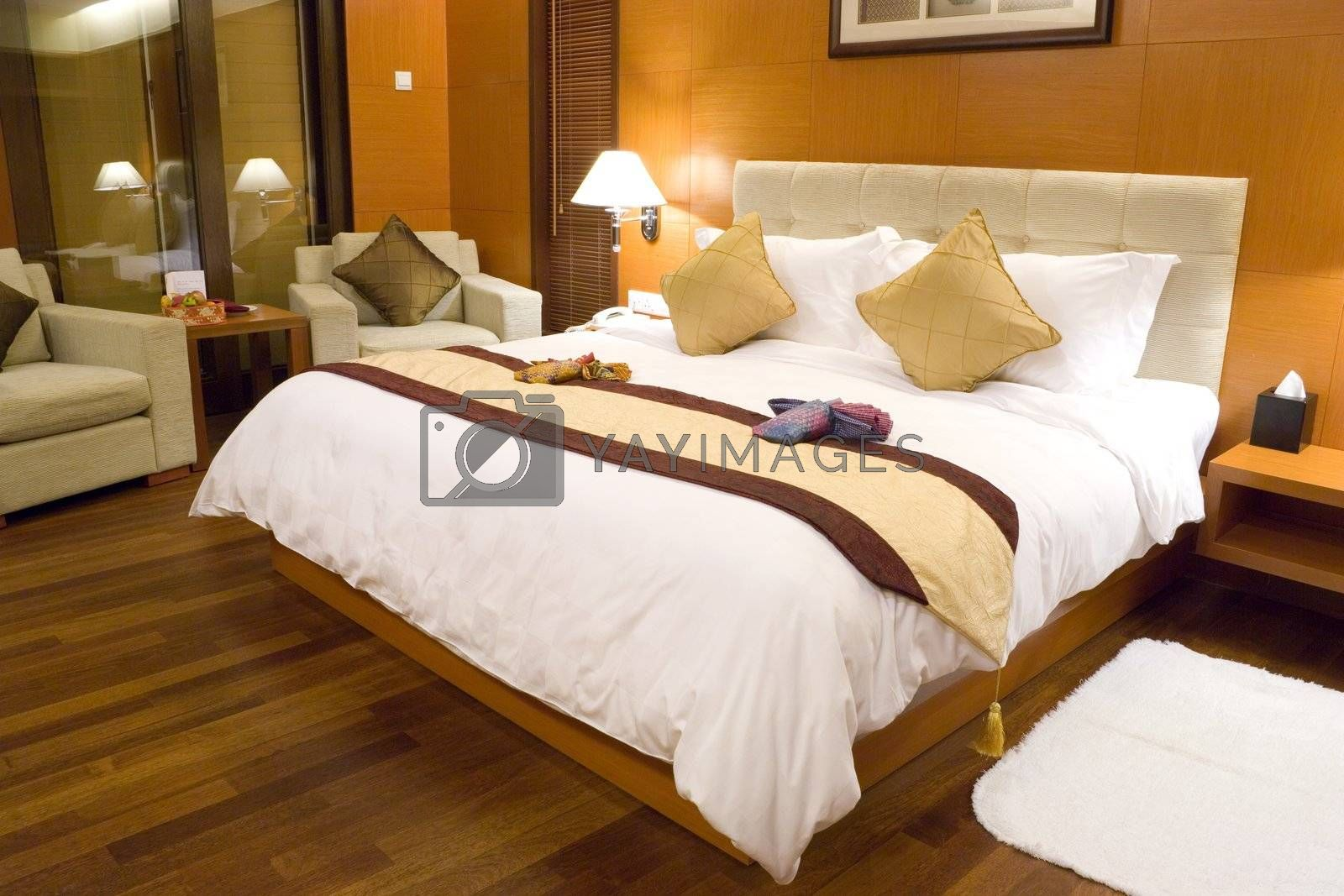 Royalty free image of Hotel Bedroom by shariffc